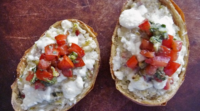 Italian Twice-Baked Potatoes
