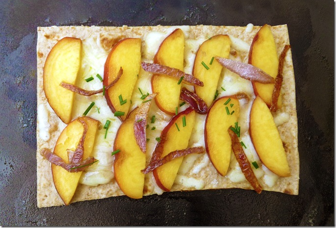 Cheddar Peach Quesadilla - sweet AND savory!