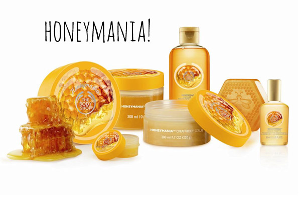 Body Shop Honeymania...sweet and creamy body products. Love the scent!